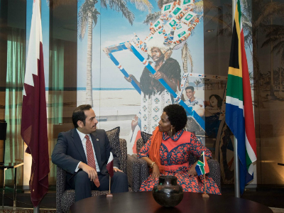 Deputy Prime Minister and Foreign Minister Meets South African International Relations Minister