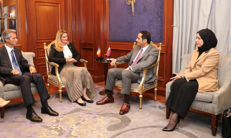 Deputy Prime Minister and Minister of Foreign Affairs Meets Romania Foreign Minister
