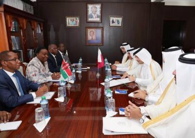 نائب رئيس مجلس الوزراء وزير الخارجية يجتمع مع وزيرة خارجية كينيا