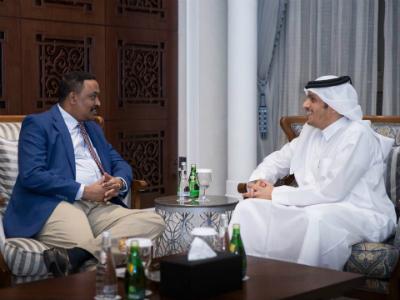 نائب رئيس مجلس الوزراء وزير الخارجية يجتمع مع وزير الخارجية الإثيوبي