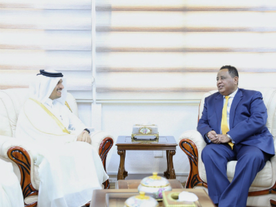 نائب رئيس مجلس الوزراء وزير الخارجية يجتمع مع وزير الخارجية السوداني