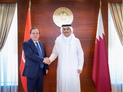 نائب رئيس مجلس الوزراء وزير الخارجية يجتمع مع وزير الشؤون الخارجية التونسي