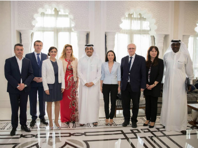 Deputy Prime Minister and Minister of Foreign Affairs Meets Qatari-European Friendship Group's Delegation