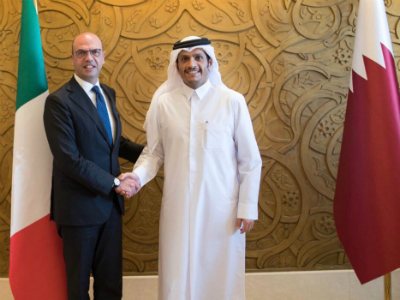 Deputy Prime Minister and Foreign Minister Meets Italian Foreign Minister