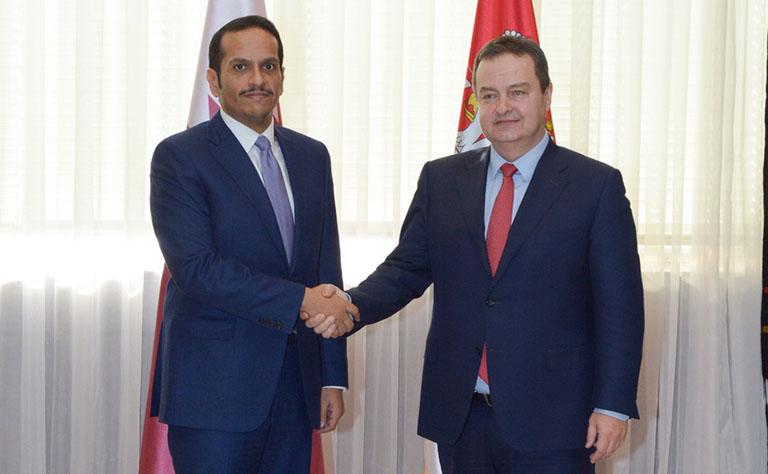 سعادة وزير الخارجية يجتمع مع نظيره الصربي