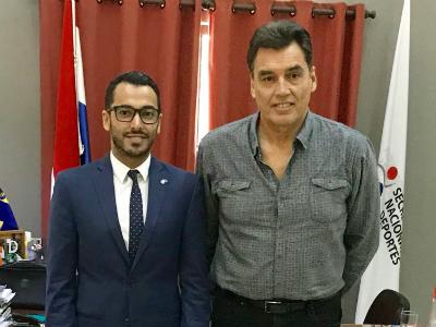 وزير الأمانة الوطنية للرياضة بالباراغواي يجتمع مع القائم بالأعمال بالإنابة القطري