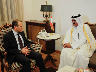 Minister of Foreign Affairs of Lebanon Meets Qatar's Ambassador