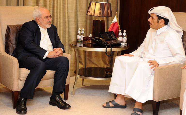 سعادة وزير الخارجية يجتمع مع نظيره الإيراني