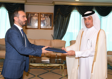 Minister of State for Foreign Affairs Receives Copy of Credentials of Ambassador of Kosovo
