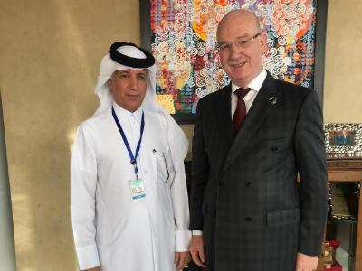وزير الدولة للشؤون الخارجية يجتمع مع مفوضي السلم والأمن والشؤون الاجتماعية بالاتحاد الأفريقي