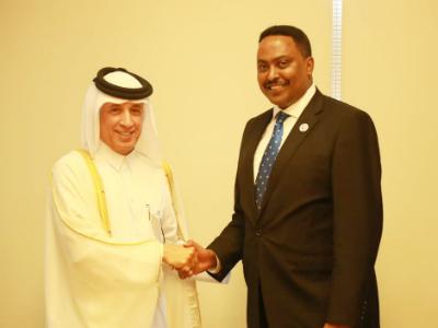 وزير الدولة للشؤون الخارجية يجتمع مع وزير خارجية إثيوبيا