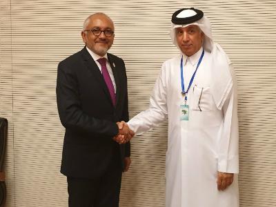 وزير الدولة للشؤون الخارجية يجتمع مع وزير خارجية مدغشقر