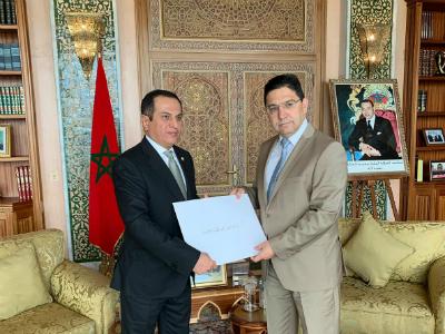 وزير الشؤون الخارجية المغربي يتسلم نسخة من أوراق اعتماد سفير دولة قطر