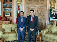Moroccan Minister of Foreign Affairs Meets Qatari Ambassador