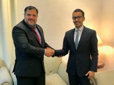 وزير الصحة في الباراغواي يجتمع مع القائم بالأعمال القطري