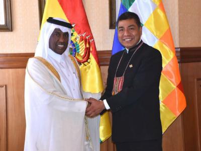 وزير خارجية بوليفيا يجتمع مع القائم بأعمال دولة قطر في البيرو