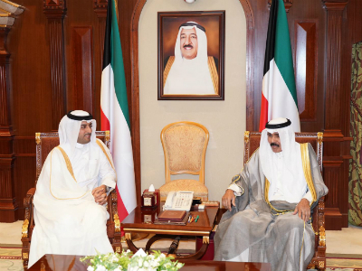 Crown Prince of Kuwait Meets Qatar's Ambassador