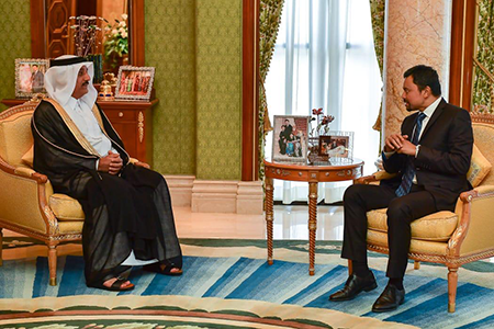 Crown Prince of Brunei Darussalam Meets Qatari Ambassador
