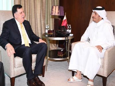 سعادة وزير الخارجية يلتقي رئيس المجلس الرئاسي لحكومة الوفاق الوطني الليبي