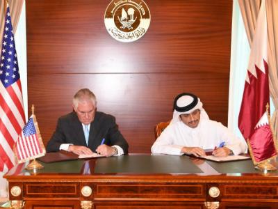 قطر وأمريكا توقعان مذكرة تفاهم لمكافحة تمويل الإرهاب