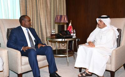 وزير الخارجية يجتمع مع نظيره في جمهورية بوركينا فاسو