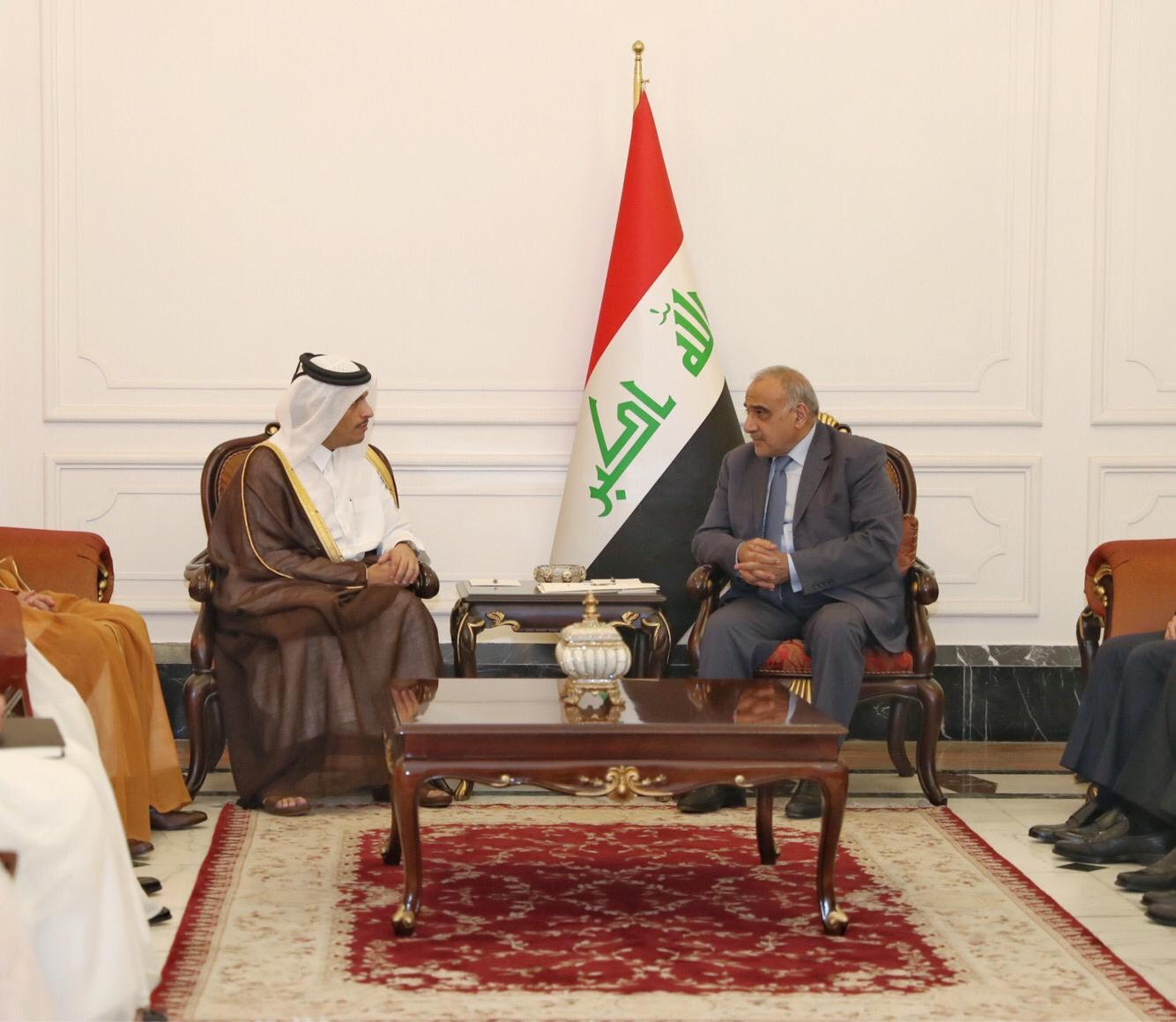 Iraqi Prime Minister Meets Deputy Prime Minister and Minister of Foreign Affairs