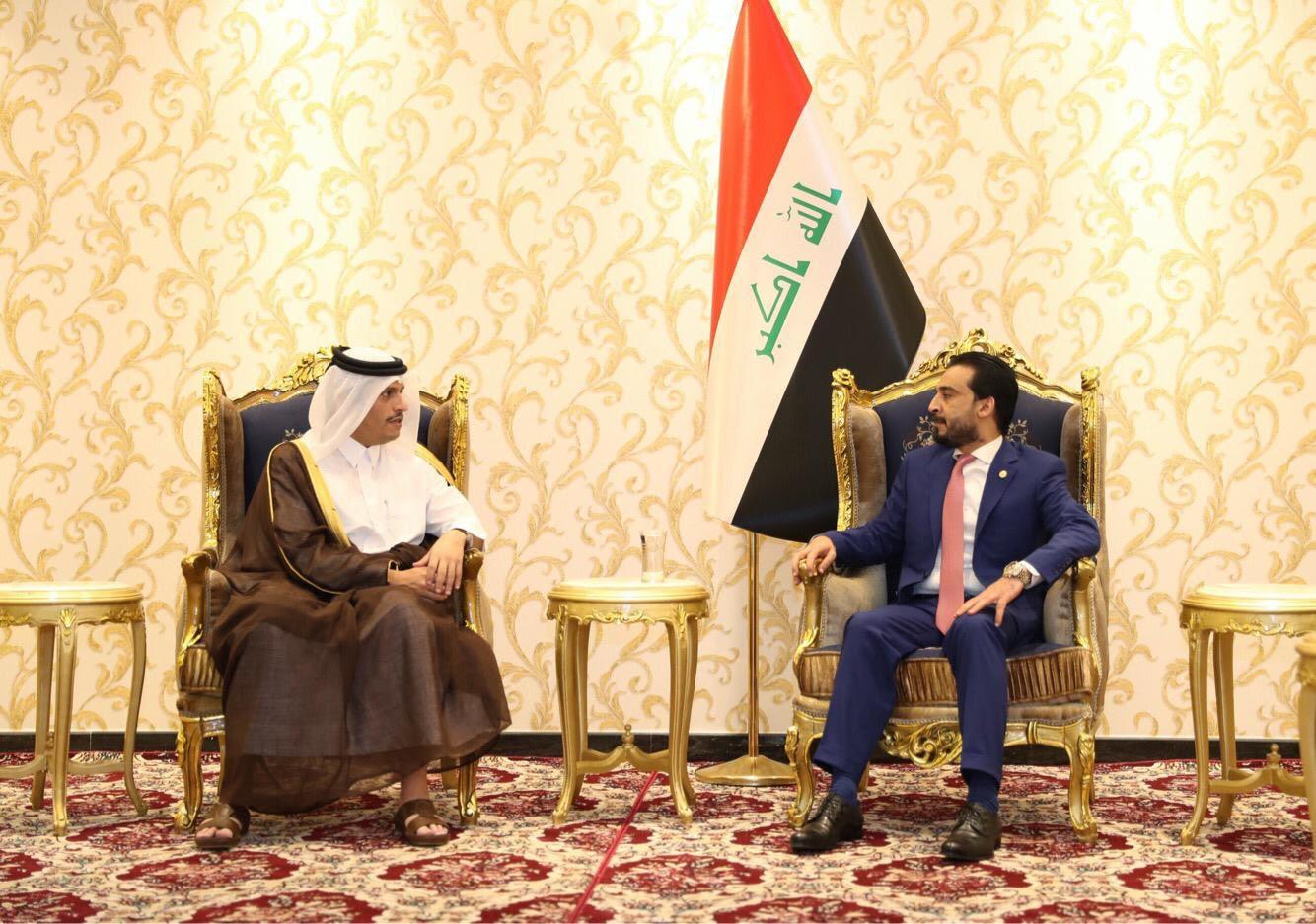نائب رئيس مجلس الوزراء وزير الخارجية يجتمع مع رئيس البرلمان العراقي