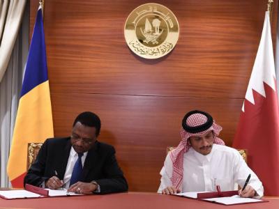 مذكرة تفاهم بين دولة قطر وتشاد لإعادة العلاقات الدبلوماسية