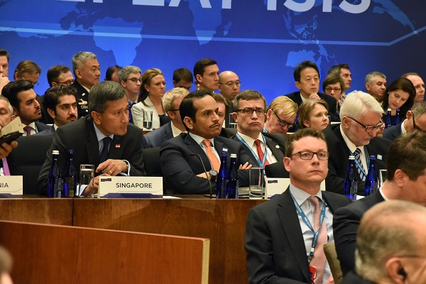 Foreign Minister Of Qatar Participates In Meeting Of Global Coalition To Defeat ISIS