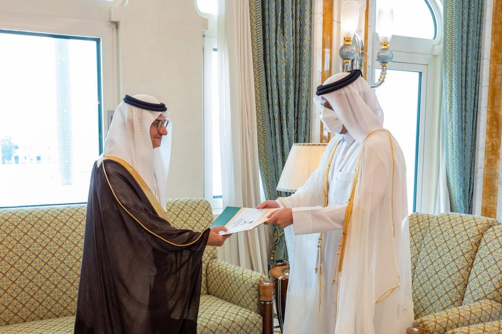 Deputy Prime Minister and Minister of Foreign Affairs Receives Copy of Credentials of Saudi Ambassador