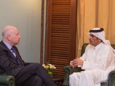 وزير الخارجية يلتقي مبعوث الرئيس الأمريكي للشرق الأوسط