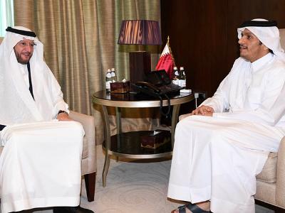 سعادة وزير الخارجية يجتمع مع أمين عام منظمة التعاون الإسلامي