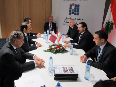 وزير الخارجية يلتقي رئيس الوزراء اللبناني