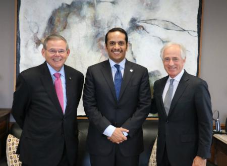نائب رئيس مجلس الوزراء وزير الخارجية يجتمع مع أعضاء بالكونغرس الأمريكي