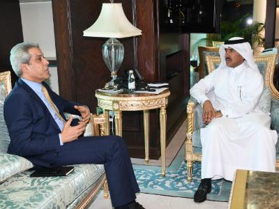 الأمين العام لوزارة الخارجية يجتمع مع القائم بالأعمال العراقي