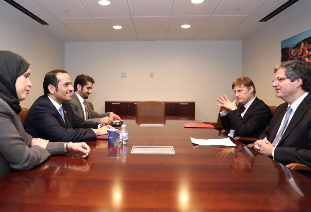 نائب رئيس مجلس الوزراء وزير الخارجية يجتمع مع المندوب الدائم لفرنسا والقائم بأعمال وفد المملكة المتحدة لدى الأمم المتحدة