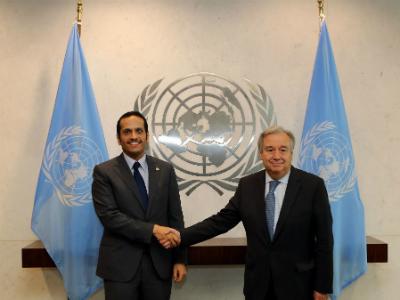 وزير الخارجية يطلع الأمين العام للأمم المتحدة على مستجدات الأزمة الخليجية