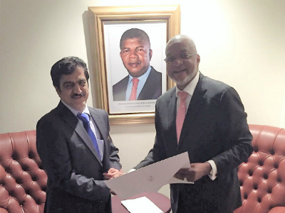 Angolan Foreign Ministry Receives Copy of Credentials of Qatar's Ambassador