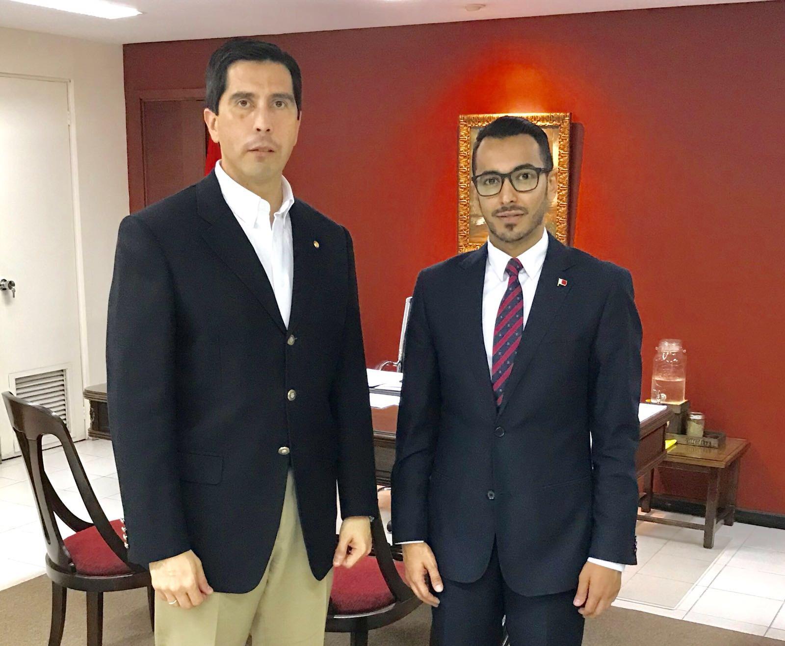 نائب وزير الخارجية في الباراغواي يجتمع مع القائم بالأعمال القطري