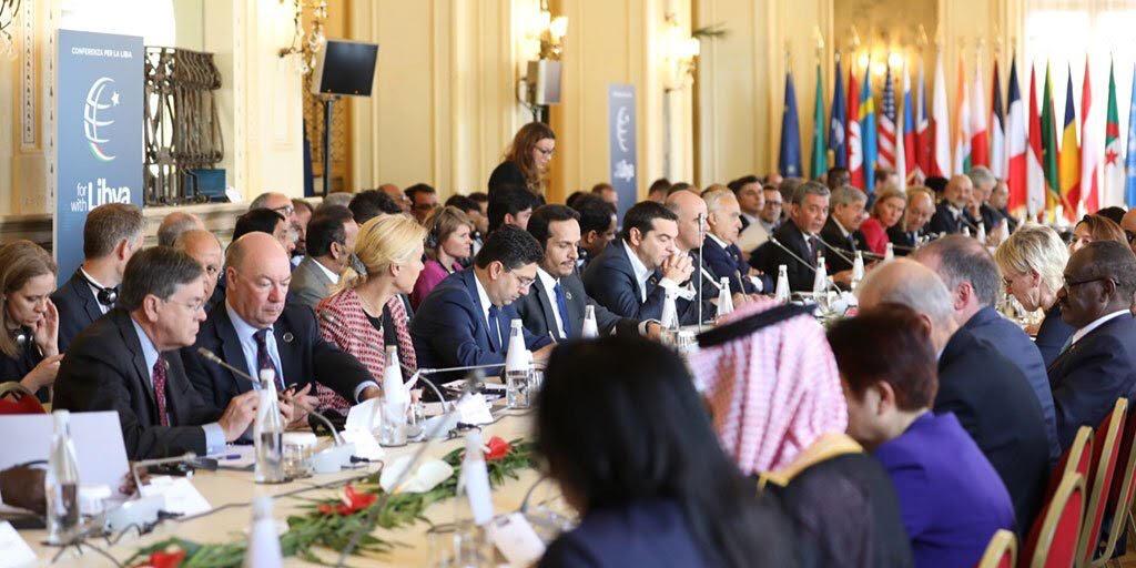 نائب رئيس مجلس الوزراء وزير الخارجية يشارك في المؤتمر الدولي حول ليبيا