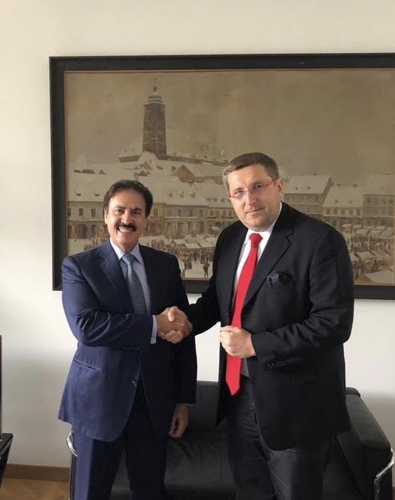 Advisor to Croatian President Meets Qatari Ambassador