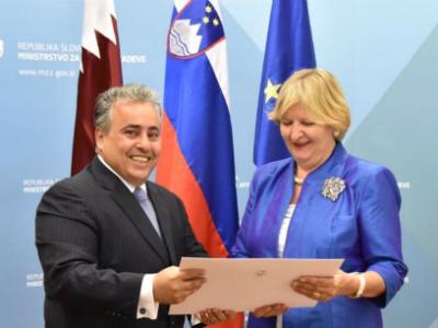 الخارجية السلوفينية تتسلم نسخة من أوراق اعتماد سفير دولة قطر