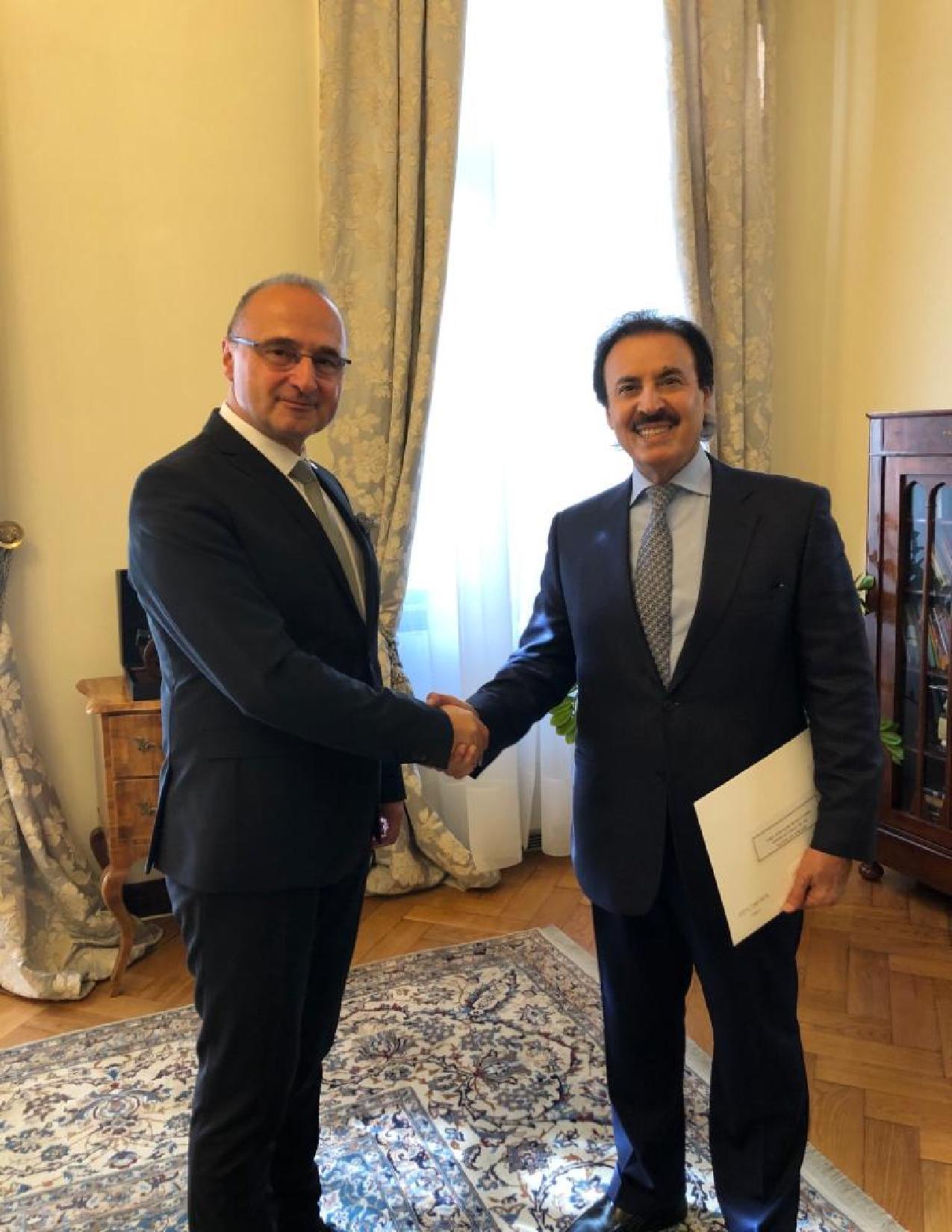 رسالة خطية من نائب رئيس مجلس الوزراء وزير الخارجية إلى وزير الخارجية الكرواتي