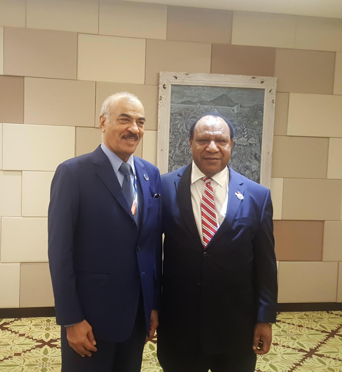 Foreign Minister of Papua New Guinea Meets Qatari Ambassador