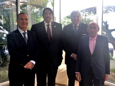 مسؤول إيطالي يجتمع مع سفير قطر
