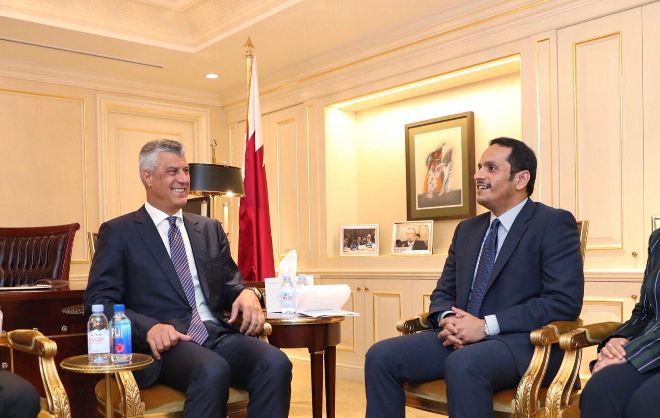رئيس كوسوفو يلتقي نائب رئيس مجلس الوزراء وزير الخارجية