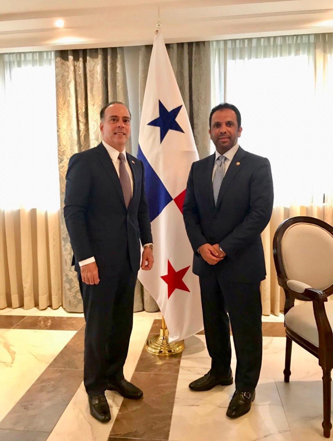 رسالتان من نائب رئيس مجلس الوزراء وزير الخارجية لوزير خارجية بنما