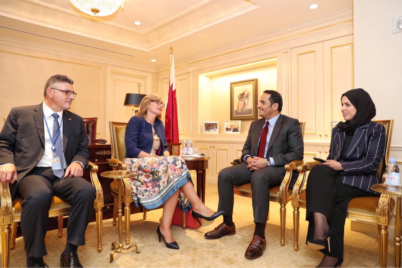 نائب رئيس مجلس الوزراء وزير الخارجية يجتمع مع عدد من المسؤولين على هامش الجمعية العامة