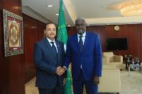 Chairman of African Union Commission (AU) Receives Credentials of Qatar's Ambassador