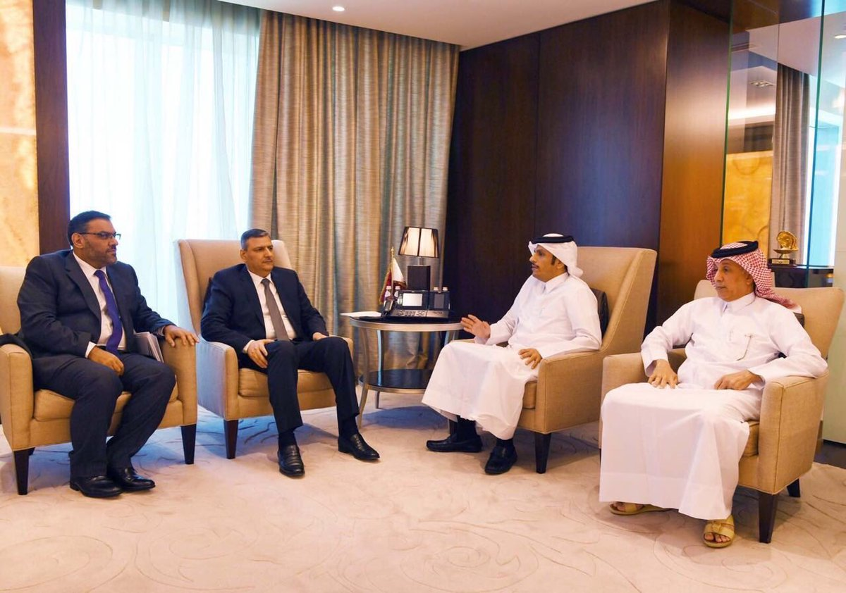 HE Foreign Minister Meets Riad Hijab And Anas Al Abdah
